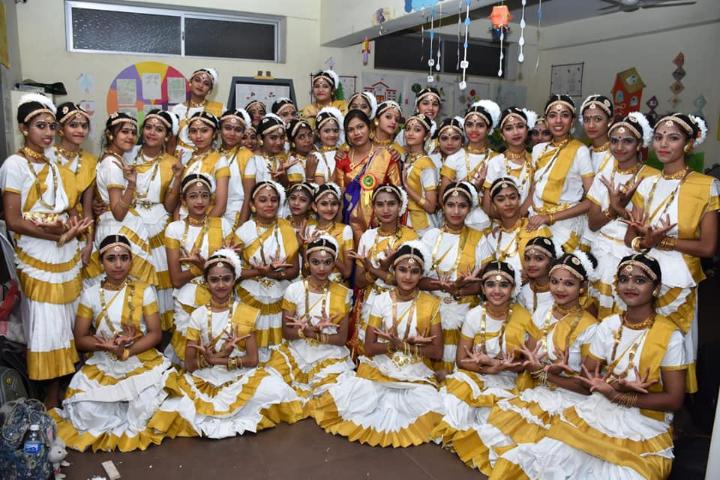 Dancing Group of School