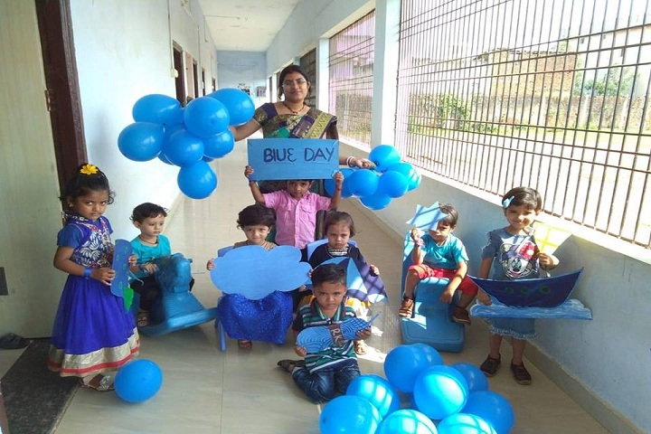 K P Asati Public School-Blue Day