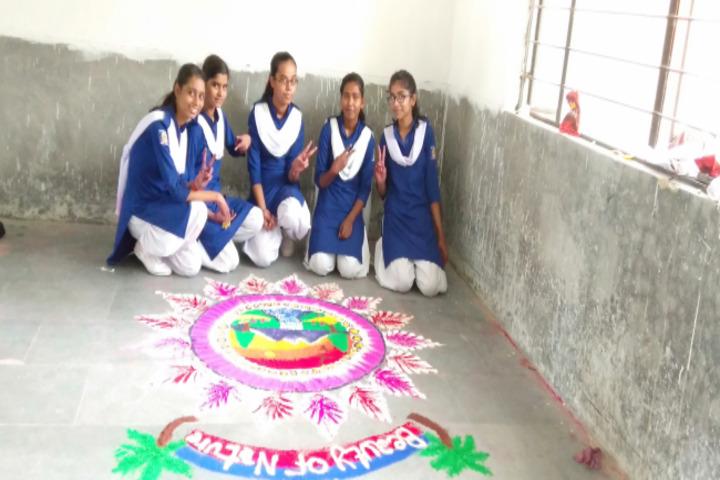 Dav Public School-Rangoli Competition