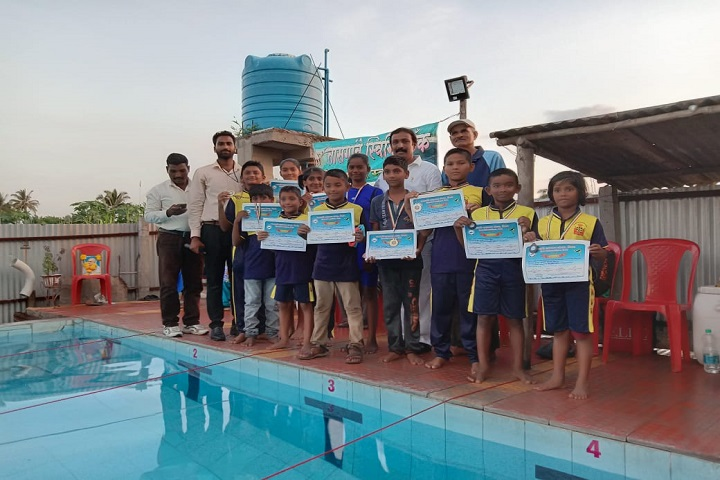 Nav Krishna Valley School-Swimming competition winners