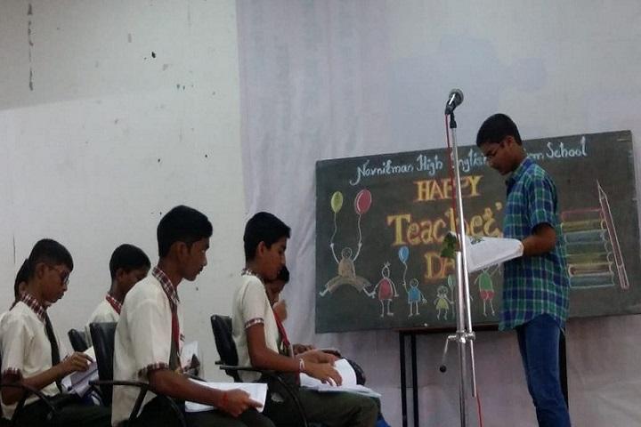 Navnirman High English Medium School-Teachers day celebrations