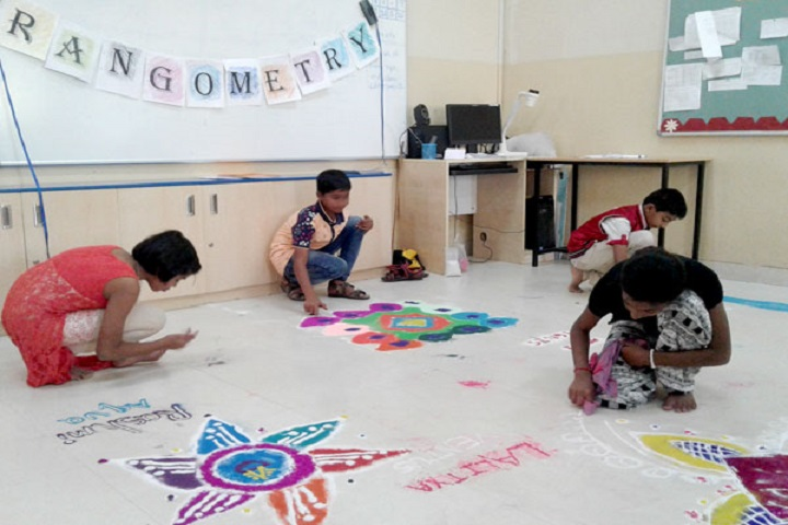 Podar International School-Rangoli