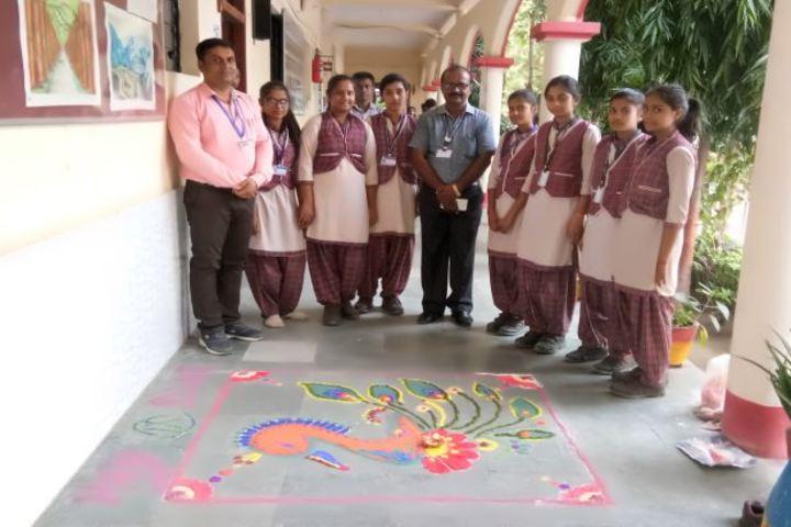 Dav Public School-Rangoli