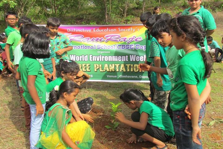 Ramraje International School-Tree Plantation
