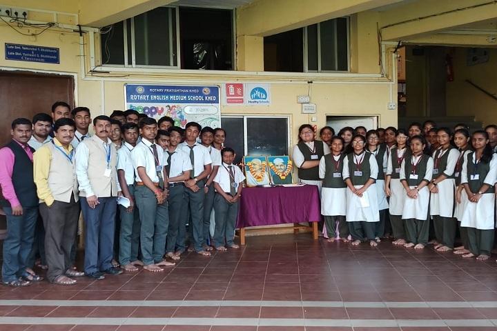 Royary English Medium School-Gandi jayanti celebrations