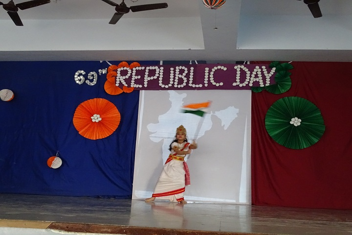 Sheth Karamshi Kanji English School-Republic day celebration