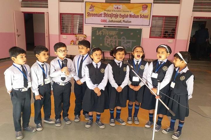 Shreemant Shivajiraje English Medium School-Hindi Day Celebrations
