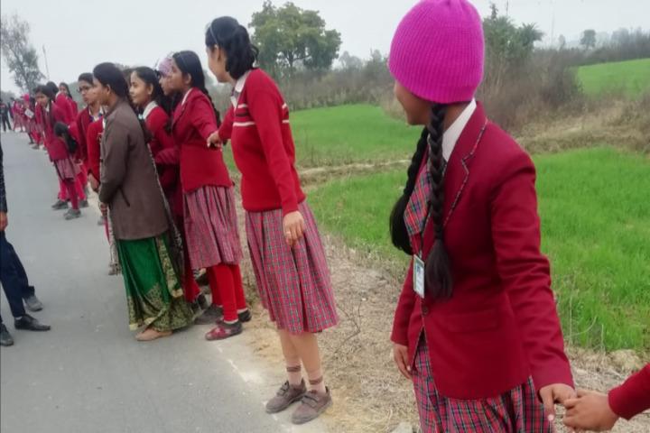 Dav Public School-Human Chain Day