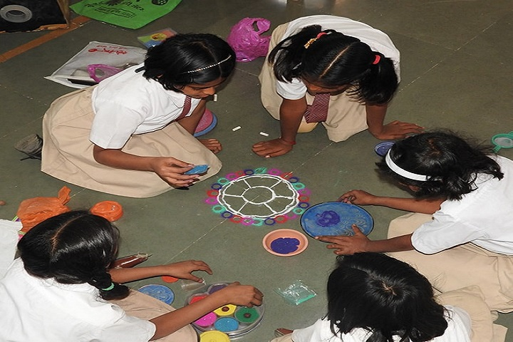 Smt Prayag Karad English Medium High School-Rangoli Competitions