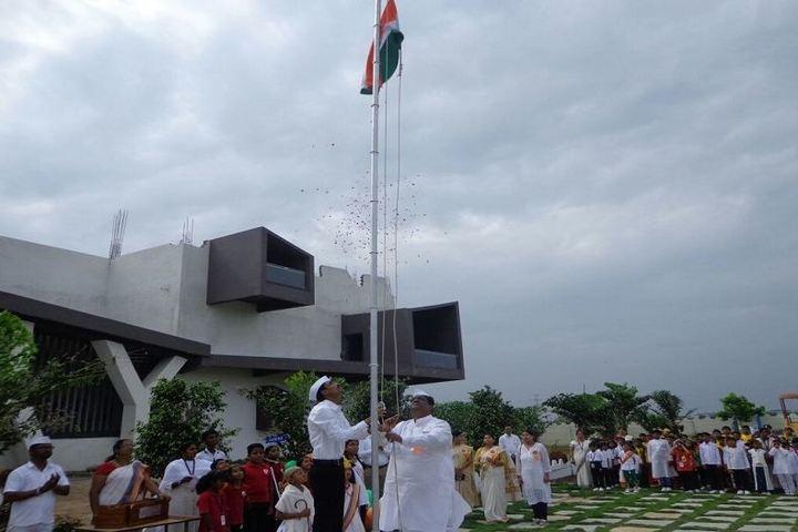 Sushganga Public School-Flag Hoisting