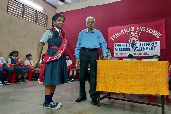 V.P.Ms B.R.Tol English High School-Investiture Ceremony
