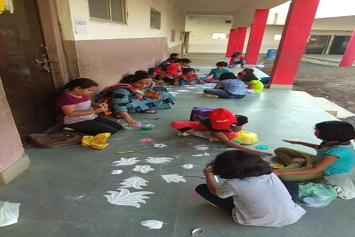 Yugdharma Public School-Rangoli Competition
