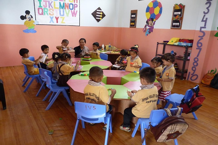 Imphal Valley School-Classroom kids