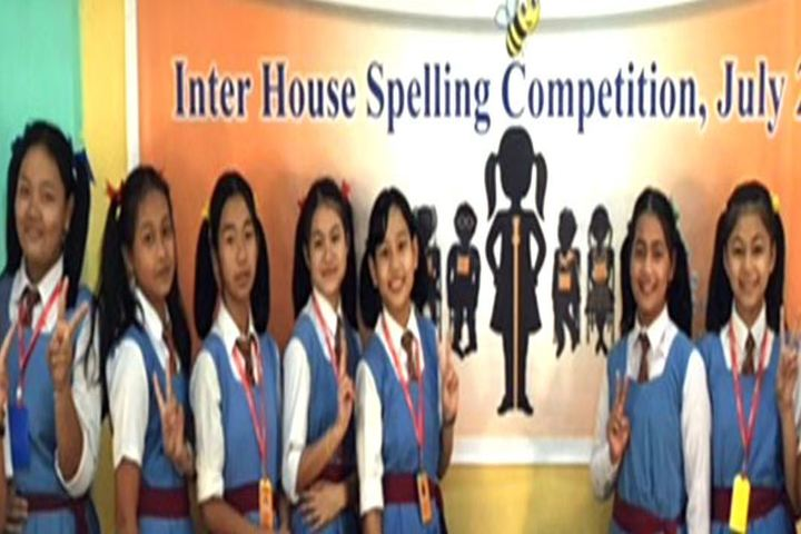 Rajkumari Sanatombi Devi Vidyalaya-Inter house spwlling Competetion