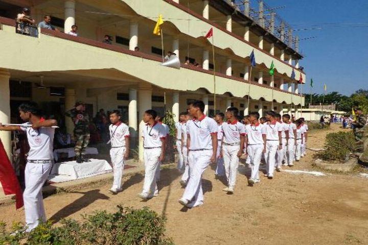 RK Sanatombi Vidyalaya-March-past