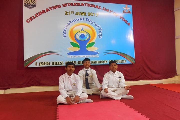 Assam Rifles School - Yoga Day Celebrations