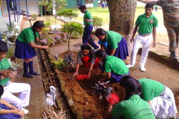 Assam Rifles Training Centre High-Planting Tree