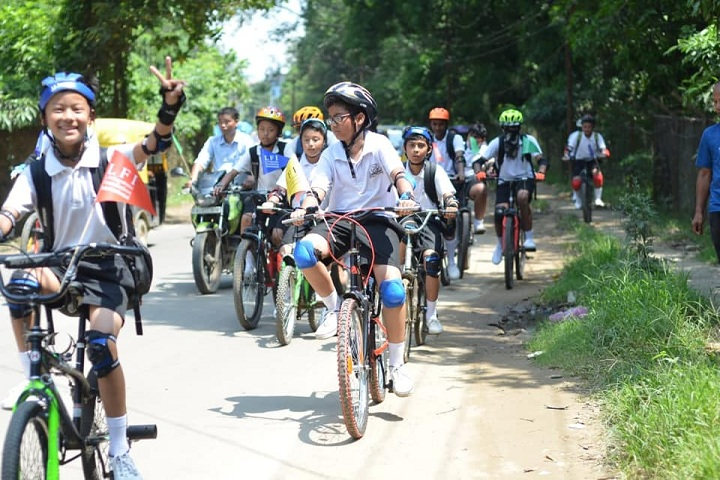 Livingstone Founder Higher Secondary School-Bicycle Rally On Pollution Control