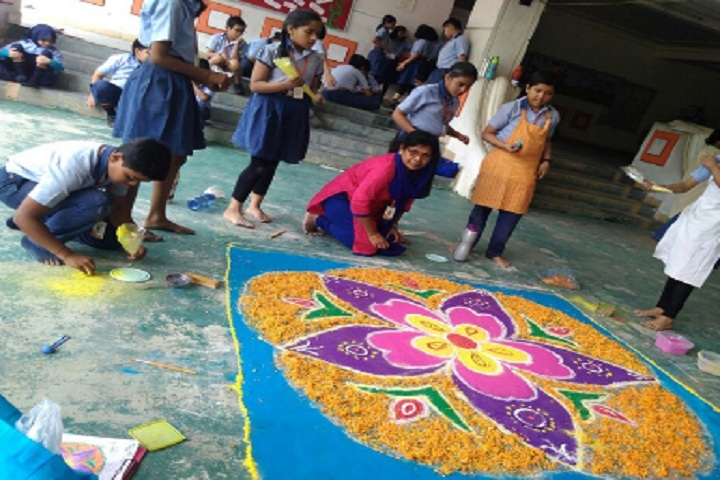 Bhubaneswar Model Public School-Rangoli-Competition