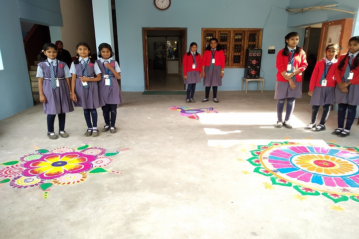 Brahmani Public School-Rangoli-Celebration