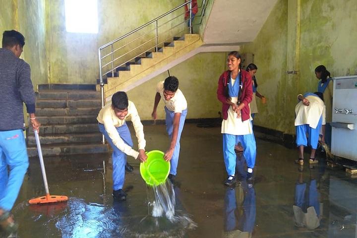 Odisha Adarsha Vidyalaya-Cleaning