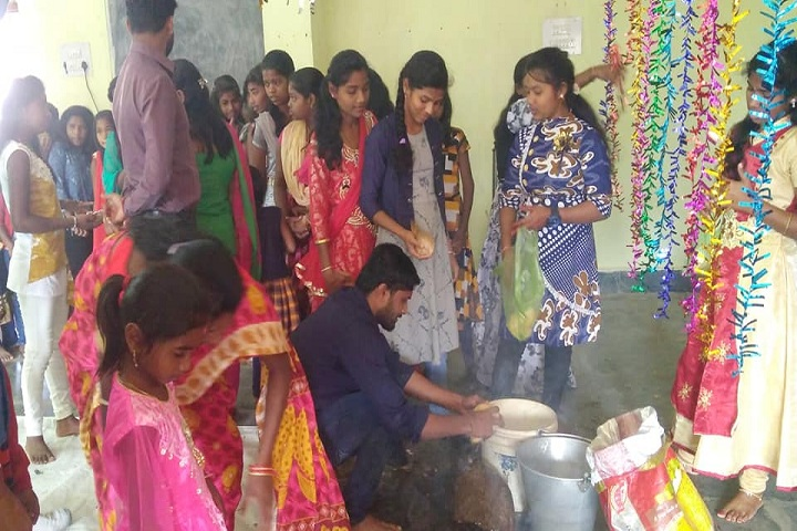 Odisha Adarsha Vidyalaya-Pooja celebrations