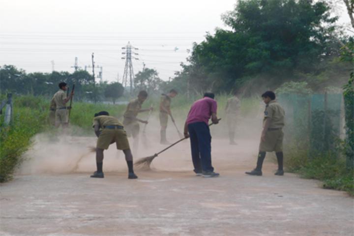 Sainik School-Cleanliness Drive