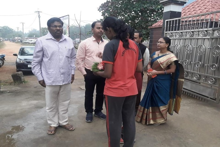 Vidyasagar Academy English Medium School-Welcoming Cheif Guest