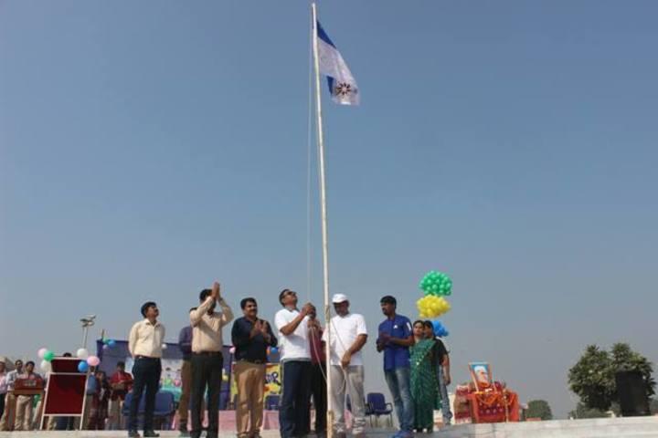 Vikash Residential School-Flag Hoisting