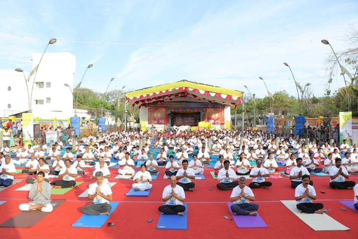 Achariya Siksha Mandir Villianur-International Yoga Day