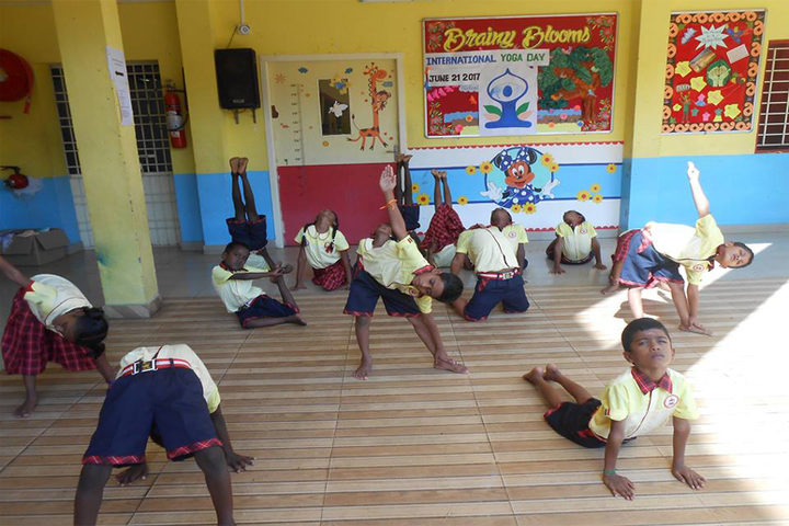 Brainy Blooms LEcole Internationale-International Yoga Day