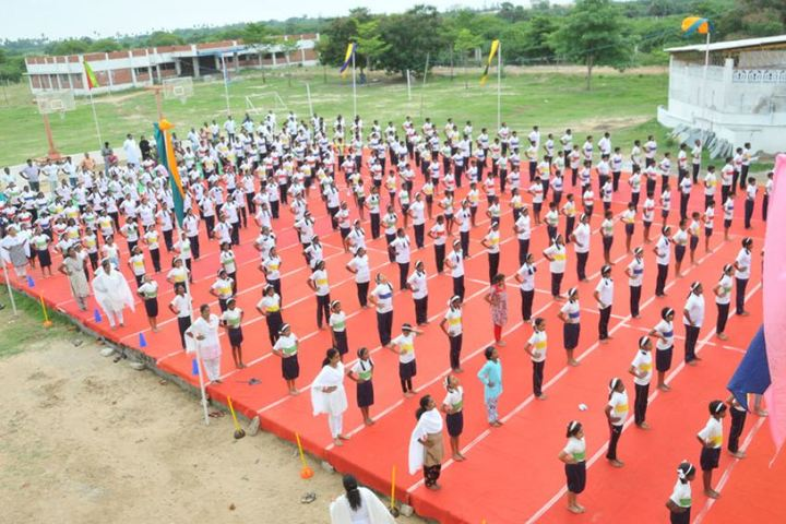 Good Shephered English School-International Yoga Day