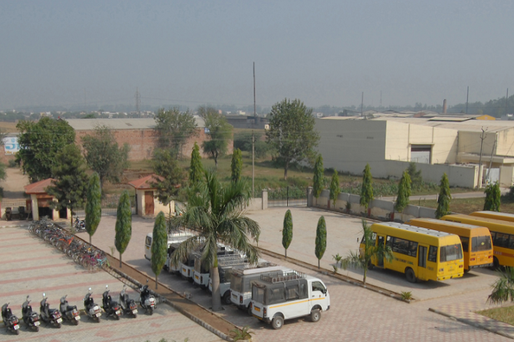 ADHARSHILA THE FOUNDATION-school parking and bus transport