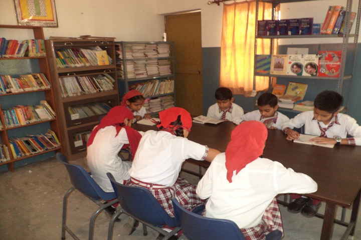 B C International High School-Library with reading room