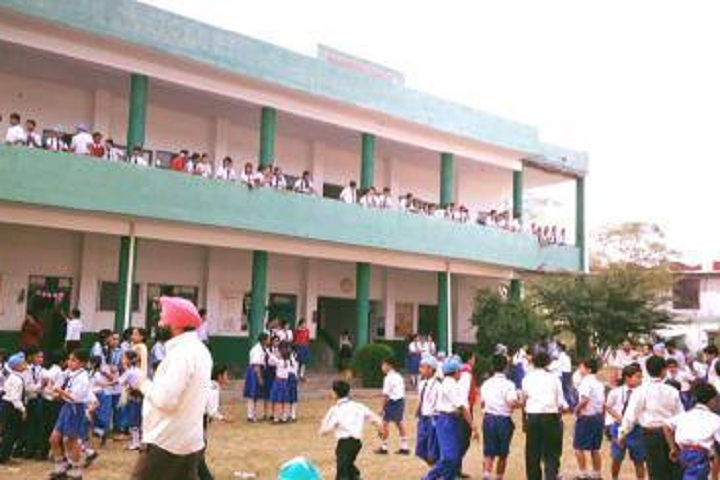Baba Manjh Convent School-Campus-View inside with students