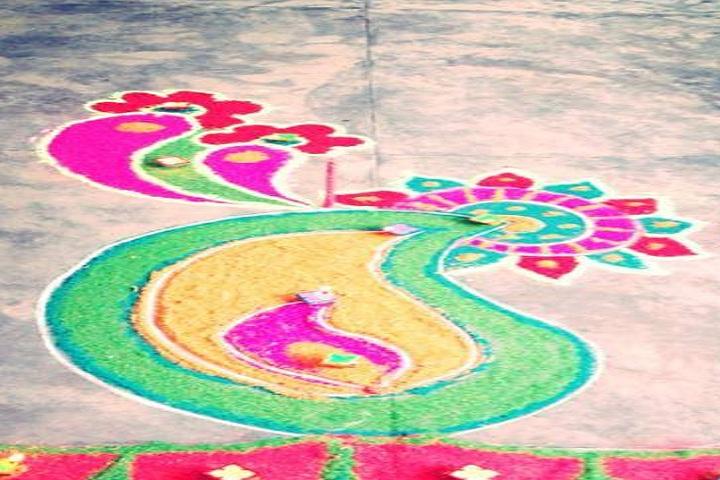 Baba Manjh Convent School-Events rangoli