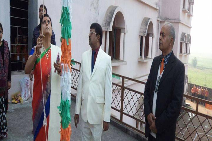 Gyan Jyoti Residential Public School-Flag Hoisting