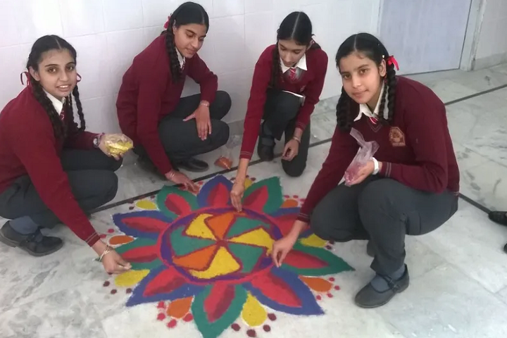 Baba Shri Chand Public School-Events rangoli