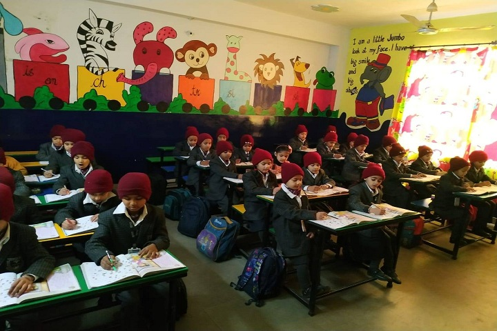 Bhupindra Global School-Classroom with students