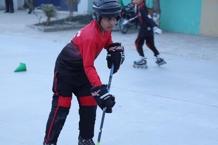 D C Model International School-Skating Activity