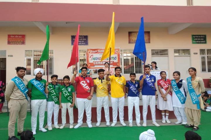 D A V Model Senior Secondary School-Investiture Ceremony
