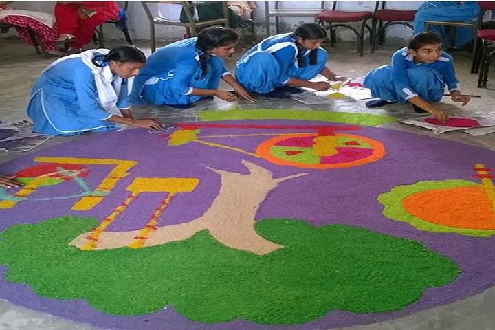 Divine Mata Gujri Public School-Rangoli