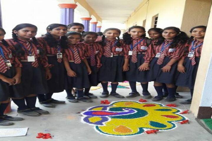 Holy Cross Public School-Rangoli Making