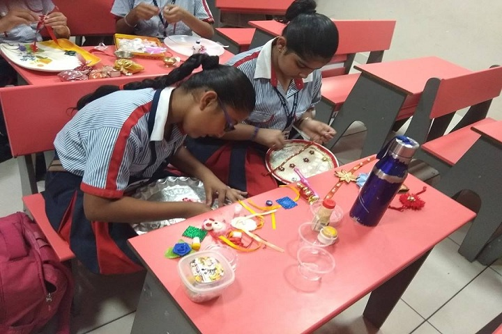 G D Goenka International School-Rakhi Making Activity