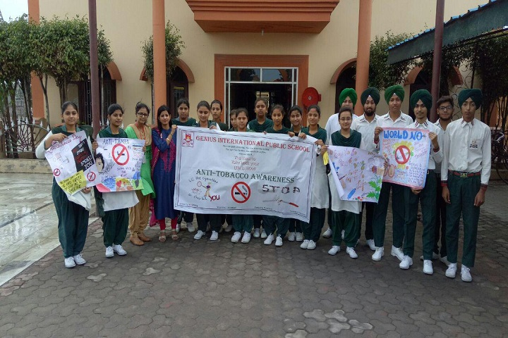 Genius International Public School-Anti Tobacco rally