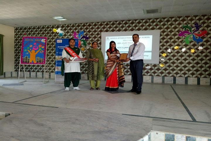 Genius International Public School-Award Receiving