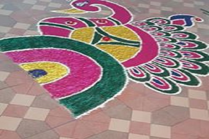 God Blessing Public School-Rangoli Event