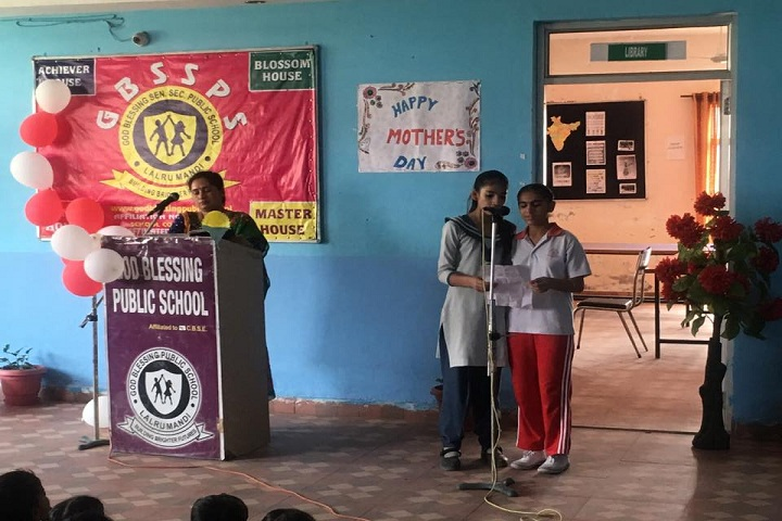 God Blessing Public School-Speech