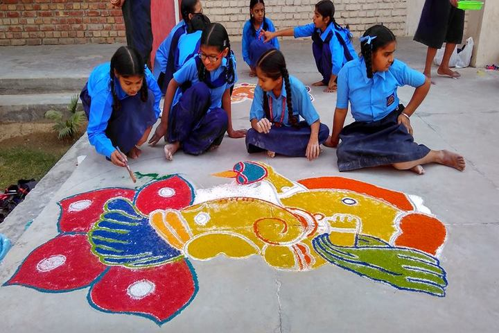Government FCS Adarsh Senior Secondary School-Rangoli Competition