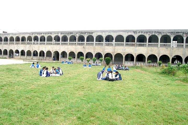 Guru Nanak Dev Public School-Campus-View with playground